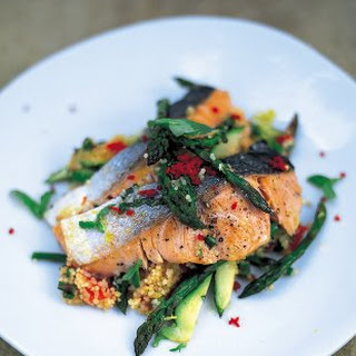 Salmon And Couscous.