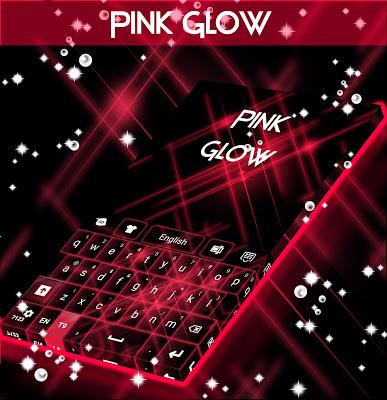 Pink Glow For GO Keyboard - screenshot