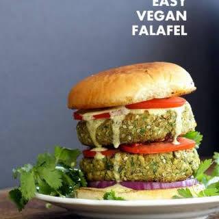 Easy Vegan Falafel Burger.