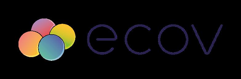 logo ecov, la voiture est un transport collectif