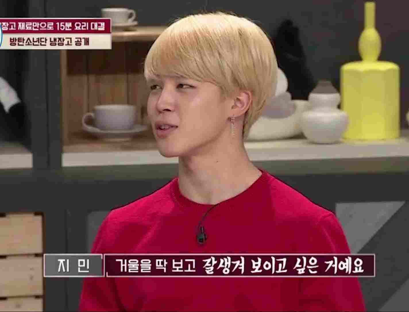 bts jimin on tv show