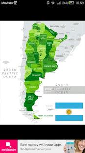 Argentina flag map - náhled