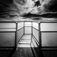 """Photo: """"Iona Jetty Viewing Platform 1"""" - http://www.createwithlightphotography.com  This is a 65 second exposure at the end of the Iona Jetty in the Strait of Georgia in Vancouver.  Iona Jetty is a 4km long breakwater, that stretches into the Strait of Georgia, in Vancouver. You can or bike on the jetty, which is pretty cool. I went out there again in the middle of June and cycled to the end of the jetty, as walking a total of 8kms with a backpack full of heavy photographic gear is not a lot of fun!!  There are so many great photographic opportunities out there, including this awesome viewing platform, looking out towards the Coast Mountains. The sun and clouds were in perfect harmony that day and this composition jumped out at me as I was standing on the platform. I set the tripod to the lowest height setting, with the horizon just above the railings, for separation. The contrasts were awesome and the sun cast the shadows that I was after too.  I used a 10 stop ND filter, and stacked a 3 stop hard grad ND filter, to get the right level of contrast in the the water, clouds and foreground.  This is my contribution to the #LongExposureThursday theme, kindly curated by +Francesco Gola and +Le Quoc , the #ThirstyThursday theme, kindly curated by +Giuseppe Basile and +Mark Esguerra , the #FineArtPls theme, curated by the lovely +Marina Chen and +Fineao Fang , the #BWFineArtLE theme, curated by the amazing Mr +Joel Tjintjelaar and +Black and White Fine Art Photography Gallery , #SquaresAreSassy curated by my geeat friend +Nathan Wirth , my awesome muse, friend and supporter +dene' miles and finally the #PlusPhotoExtract theme, run by the awesome +Jarek Klimek  All thoughts and comments welcome.  Please visit my website to view more of my images: http://www.createwithlightphotography.com  #PlusPhotoExtract #GrantMurray #GrantMurrayPhotography #BWFineArtLE #FineArtPls"""