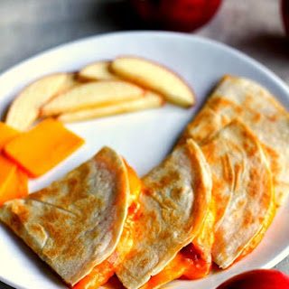 Cheddar Apple Quesadillas