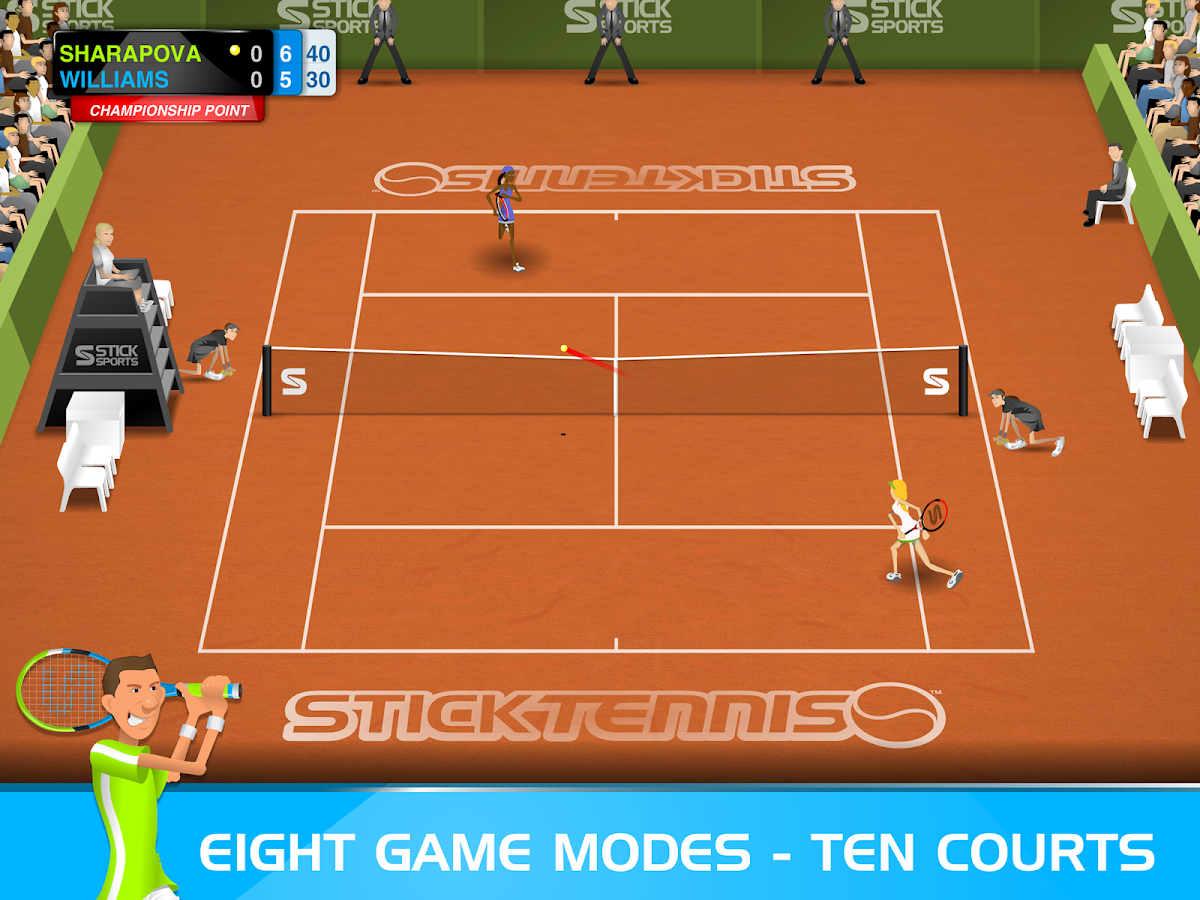 Stick Tennis- screenshot
