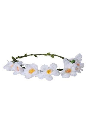Blomsterkrans, vit