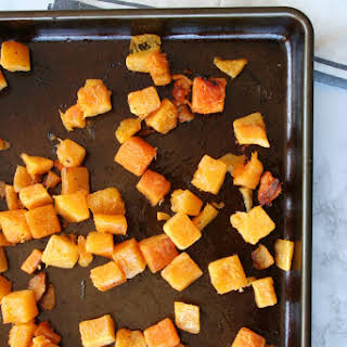 Easy Roasted Butternut Squash.