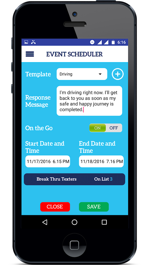 Text & Away Best Autoresponder- screenshot