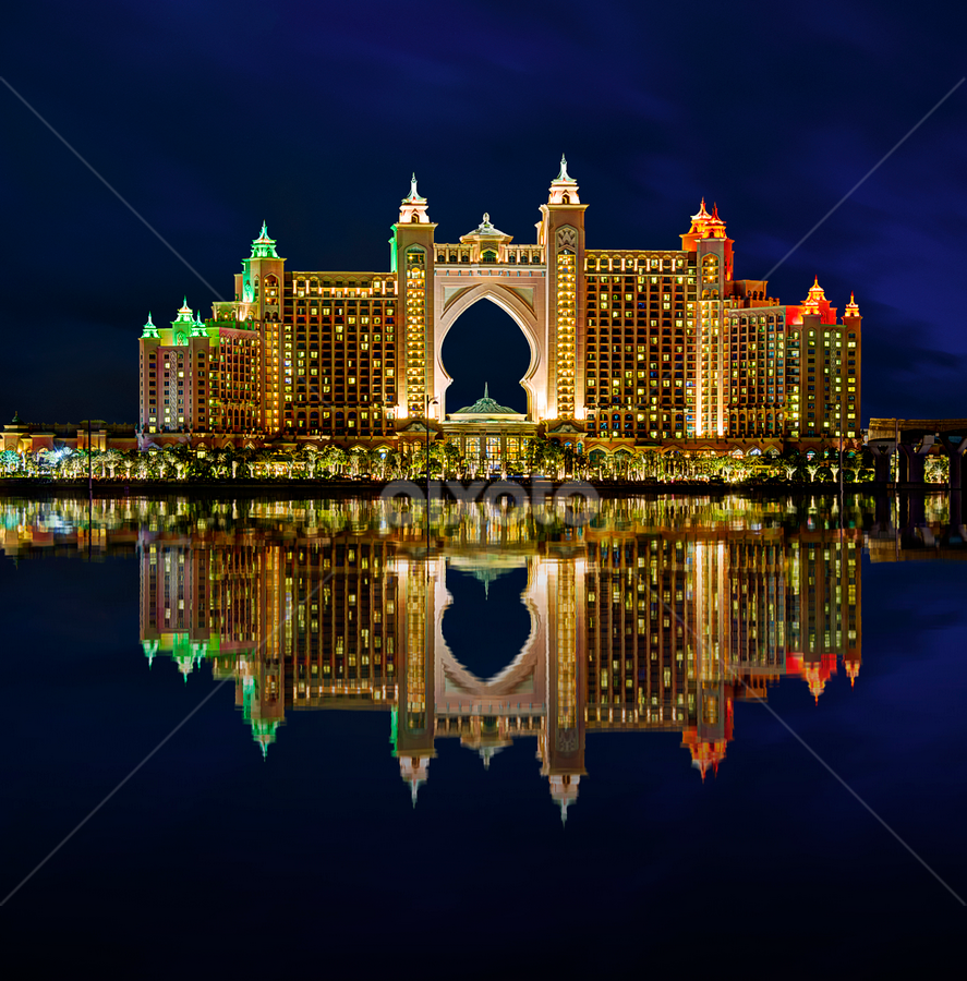 Atlantis by RJ Ramoneda - Buildings & Architecture Architectural Detail ( pwcarcreflections, palm jumeirah, details, dubai, buildings, reflections, hotel, architecture, atlantis )