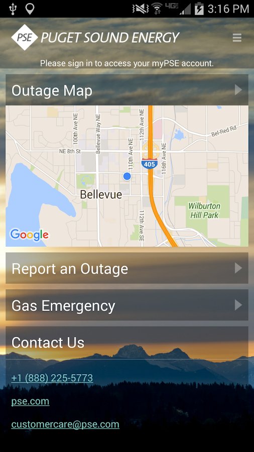 myPSE from Puget Sound Energy- screenshot