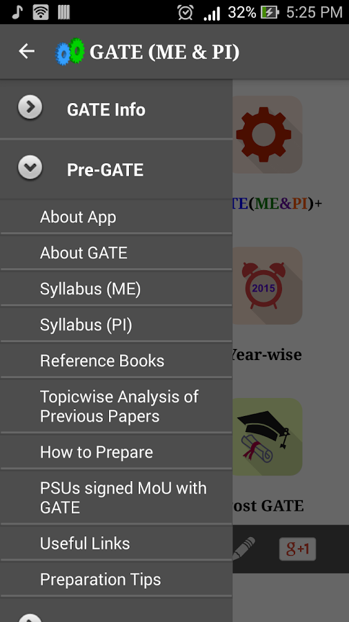 GATE (ME & PI)- screenshot