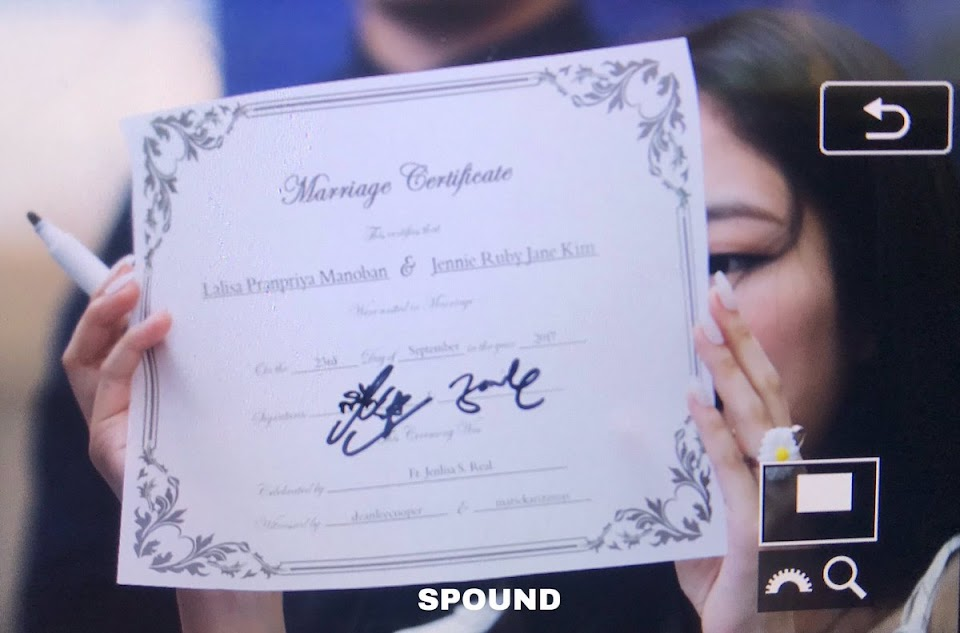 blackpink marriage license lisa jennie