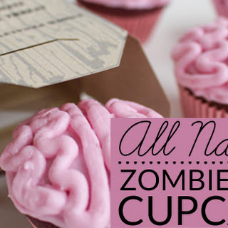 All Natural Zombie Brain Cupcakes