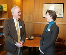Photo: BBA President-Elect Julia Huston's meeting with Senator Michael Barrett ended on a high note.