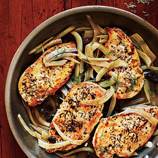 Chicken with Italian Sweet-Sour Fennel