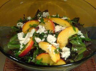 Fresh Peach Salad Recipe