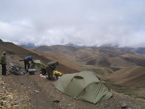 Photo: A very late morning at Pang la pass (5160m), because of heavy rain