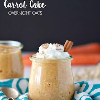High Protein Carrot Cake Overnight Oats Recipe