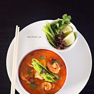Red Thai Pumpkin and Shrimp Soup.
