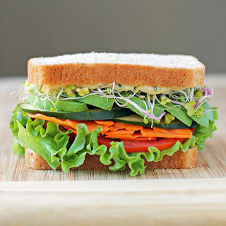 Garlic Herb Veggie Sandwich