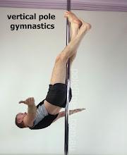 Photo: vertical pole gymnastics at polefitness.com.au