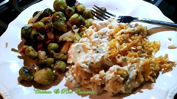 I served with a side of my roasted Brussels sprouts.Delish!