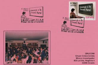 Photo: Matasellos de Primer Día de Circulación del homenaje a la Escuela Rural 2003