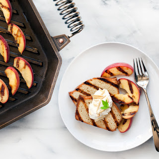 Grilled Almond Pound Cake with Peaches