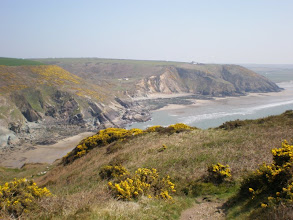 Photo: From Broad Haven to Solva (looking back to Cwm-Back)