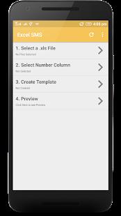 Excel SMS - náhled