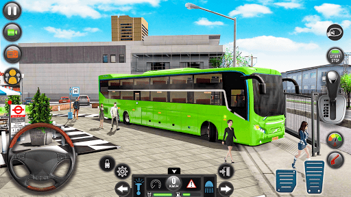 Modern Bus Simulator Drive 3D: New Bus Games Free apkmr screenshots 1