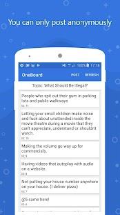 OneBoard - Anonymous Discussion Text Board- screenshot thumbnail