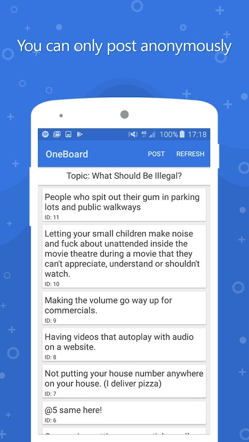 OneBoard - Anonymous Discussion Text Board- screenshot