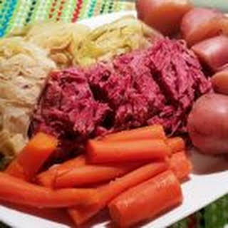 Pressure Cooker New England Boiled Dinner (Corned Beef and Cabbage).