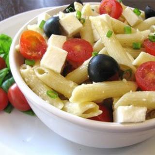 Penne, Tomato, and Mozzarella Salad