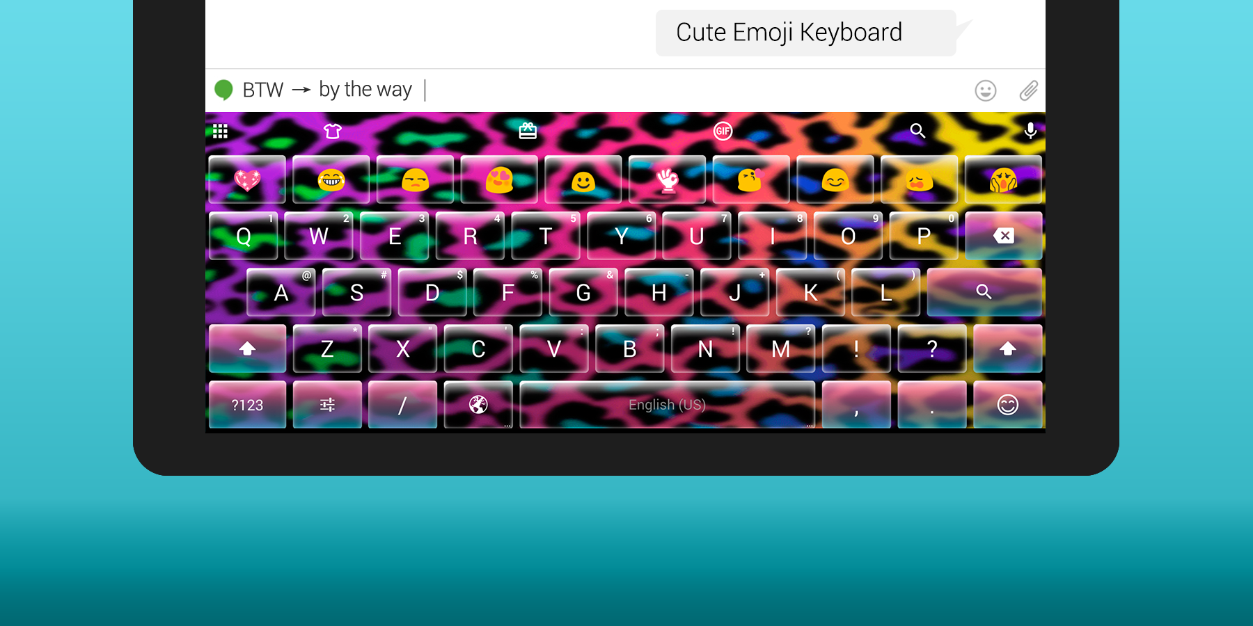 Emoji Keyboard Cute Emoticons- screenshot