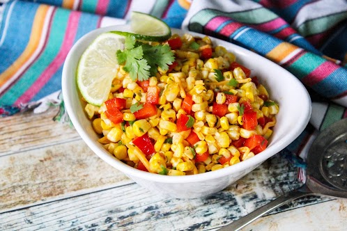 Grilled Corn and Fresh Pepper Salad