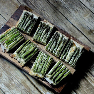Asparagus and Whipped Ricotta Tart.