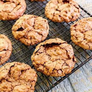 Fudgy Chocolate Meringue Cookies.