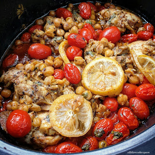 Slow Cooker Mediterranean Chicken.