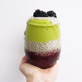 Chia Pudding Layered Fruit Smoothie