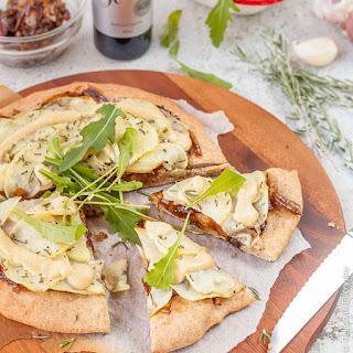 Spelt, Caramelised Onion and Potato Pizza