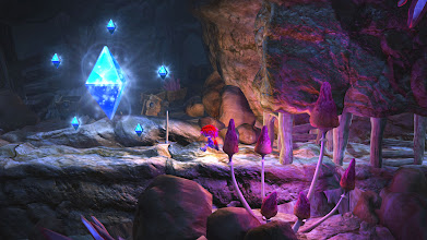 Photo: There's light in the darkness! Master Gems are stashed away in tricky places, and are the key to special treats.