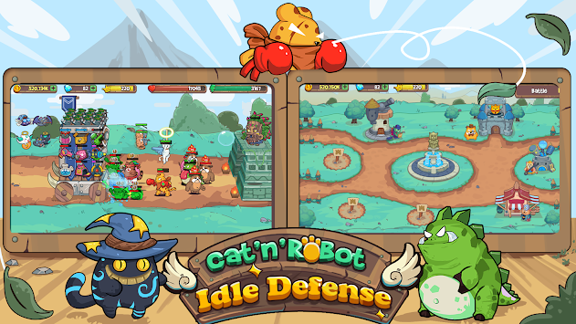 Cat'n'Robot: Idle Defense apk screenshot