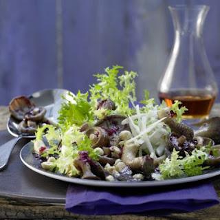 Mushroom Salad with Frisee Lettuce.