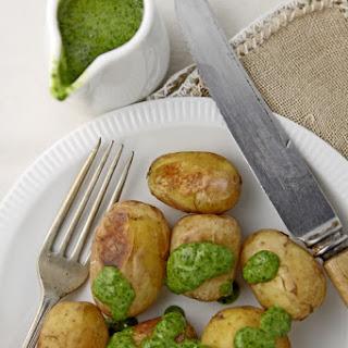 Papas arrugadas con mojo verde (Canary Islands wrinkled potatoes)