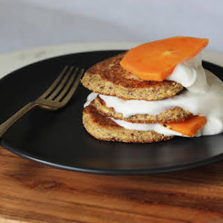 Ten minute Almond Meal, Flaxseed and Cinnamon Hot Cakes.