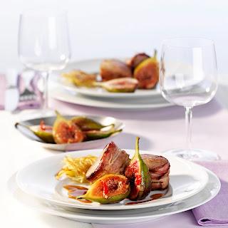 Tournedos mit Armagnac-Sauce und geschmorte Chili-Feigen