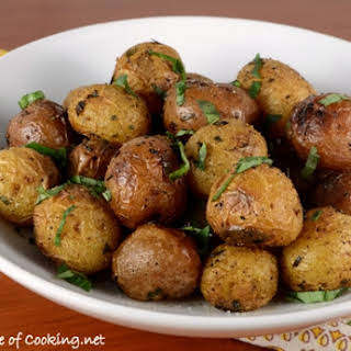 Roasted Baby Potatoes with Herbs.