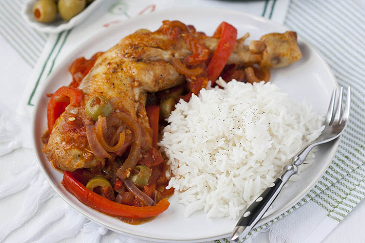 Spanish Chicken With Olives And Peppers
